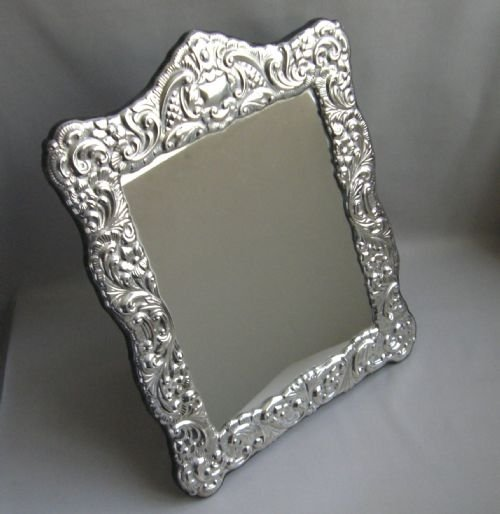silver dressing table mirror