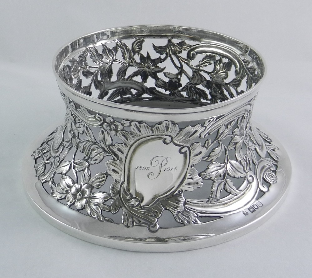 antique silver dish ring